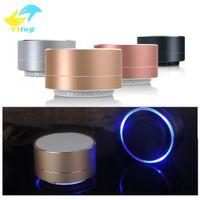 mini caixa de música para auscultadores usb venda por atacado-Novo LED MINI Bluetooth Speaker A10 TF USB FM Música Subwoofer Caixa de Som Portátil Sem Fio Altifalantes Para Telefone PC