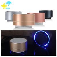 taşınabilir müzik kutuları toptan satış-Yeni LED MINI Bluetooth Hoparlör A10 TF USB FM Kablosuz PC PC Için Taşınabilir Müzik Ses Box Subwoofer Hoparlörler