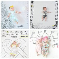 Wholesale Newborn Boys Photography Props - 2017 baby photography props newborn girls boys photography backgrounds ins photo props baby polyester blankets soft toddler mat wholesale 5c