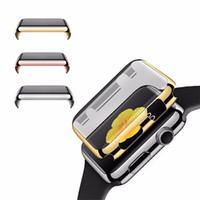 caso de cáscara dura de cristal al por mayor-38 mm / 42 mm de lujo ultra fino de galvanoplastia PC dura cubierta protectora de la cubierta completa para Apple Watch para ver la serie 2
