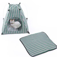 Pet Tent Portable Folding Dog Cat House Bed Tent Imperméable extérieur extérieur Tente de chat Teepee W16.8
