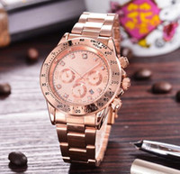 Wholesale Without Dressed Girls - Women Dress Watch Steel Quartz Watch Inner Matte Stainless Steel Diamond Watch Relogio Feminino Luxury Brand Clock Girl Gift