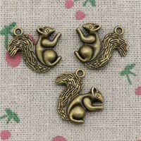 Wholesale Bronze Squirrel - 45pcs Charms squirrel 21*21mm Antique Bronze Pendant Zinc Alloy Jewelry DIY Hand Made Bracelet Necklace Fitting