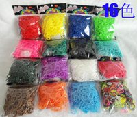 Wholesale Rainbow Loom Sets - Rubber Band - 6000 pcs=10 set Premium Rainbow Color Loom Bands - 10 Beautiful Colors Conveniently Separated! - Includes 250 S and C Clips