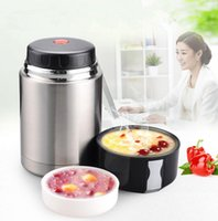 Wholesale Wholesale Food Flasks - Food jar Stainless Steel Vacuum Flask Lunch Bento Box Insulated Bottle Food Container Lunchbox Soup Box With Lunch Cooker LJJK758