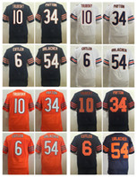 Wholesale Cheap Jay S - 2017 Elite Mens 10 Mitchell Trubisky Football Jerseys 6 Jay Cutler 34 Walter Payton 54 Brian Urlacher Stitched Throwback Blue Jersey Cheap