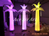 Wholesale m H RBG LED Ligthing Inflatable palm tree for sale with free blower for decoration or advertising