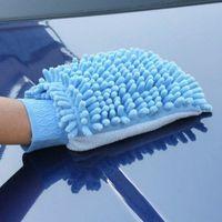 ingrosso spazzola per pulizia mitt-Auto Veicolo Microfiber Asciugamano Ciniglia Fleece Auto lavaggio Guanto di pulizia strumento di cura auto Lavare guanto panno lavaggio Mitt Brush