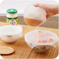 Wholesale Silicone Lids Covers - Food Fresh Keeping Saran Wrap Multifunctional Reusable Silicone Food Wrap Seal Cover Lid Stretch Envoltura Kitchen Tools