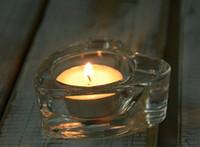 Wholesale Wholesale Tea Favors - glass heart shape candle holder tea light holders wedding party bridal shower decorations anniversary engagement favors
