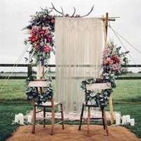 Wholesale Handcrafted Decor - Super Huge Handcrafted Macrame Hanging Drop Cotton Thread Bohemian Style Wall Hanging Retro Wedding Backdrop Home Decor 90*180cm