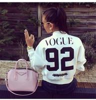 ingrosso vogue outwear-All'ingrosso- 2016 donne stampate Vogue 92 giacca Outwear breve cappotto primavera autunno casual bomber giacche Chaquetas abbigliamento femminile