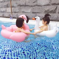 Wholesale toy boats for children for sale - Flamingo Children swimming ring Baby White Swan modeling swimming ring Boat Beach Toys Flamingo for T
