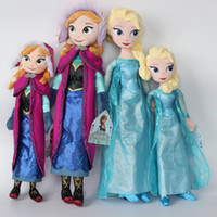 Wholesale Cheap Vinyl Dolls - Toys 50Cm Elsa Anna Princess Toys For Gilrs Kid Toy Dolls Frozen Cheap Juguetes Brinquedos Infantis 40cm