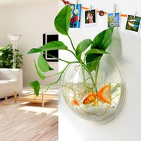 maceta Decoración Del Hogar Plantas Transparentes Maceta Floreros Colgantes de Montaje de Pared Bubble Aquarium Bowl Fish Tank Acuario XP0353