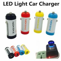 Mais recentes LED Light 12V-24V Full 2.4A Portable Mini Battery Design USB Car Charger Adapter para iphone7 Samsung S8 S7edge HTC LG Universal