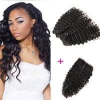 Wholesale 100 percent human hair buy cheap 100 percent human 100 percent peruvian human hair 3pcs deep wave human hair with closure virgin human hair extension nature color high quality wefts pmusecretfo Images