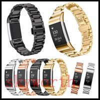 Wholesale Solid Metal Bracelets - Solid Metal Band For Fitbit Charge 2 Charge2 Blaze Wristband Stainless Steel Watch Bracelet Mesh Strap Replacement