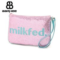 Wholesale Making Gift Tags - Scale Supply Spark Cosmetic Cases Women Hand Bag Sequins Purse Makeup Holder Wedding Gift Make Up Bag Clutch Handbag Pouch Tag