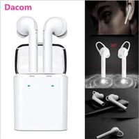 dacom kulaklıklar toptan satış-Dacom 7 s tws mini Gerçek Kablosuz Bluetooth spor Kulakiçi kulaklık Için iPhone 7 7 artı Çift Twins Kulaklık samsung Akıllı Telefonlar