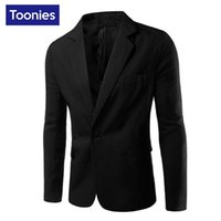 Wholesale Cool Slim Men Blazer - Wholesale- 2017 New Business Casual Blazer Men Single Button Brand Clothing Blazer Masculino Slim Fit Costume Homme Cool Men Blazer Designs