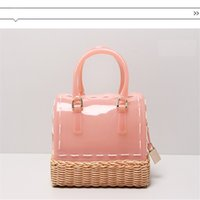 Wholesale Candy Shaped Pillows - 2017 New Summer fashion tote bags handbags women bag shoulder bag candy bag hand-knitted pillow shape free shipping
