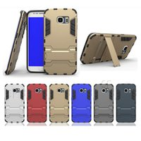 Wholesale Galaxy Note Two Case - For iPhone 6 Shockproof Case Two in One Case For iPhone 6 Plus Stand Holder Case For Galaxy S6 Note 4 with OPP Package