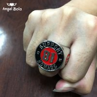 Wholesale Motorcycle Support - Angel Bola 2017 Cool 316L Stainless Steel Silver Biker Support World Ring Mens Motorcycle Biker 81 Hells Ring Free Shipping