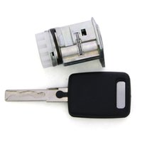 Wholesale Audi Cylinder - Free Shippng Original Auto Lock Cylinder for FC Audi A6L Left Door With One Key Applied Directly