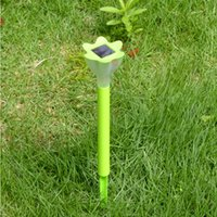 Wholesale Solar Lighted Garden Stakes - Christmas Laser Projector Eclairage Exterieur Mosaic Led Lawn Lamp Solar Powered Border Garden Post Lights Decoration Stake Light Pathway