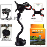 Wholesale Dashboard Windshield Car Mount - A+ quality Car Mount Long Arm Universal Windshield Dashboard Phone Holder with Strong Suction Cup and Clamp 360 degree stands best seller