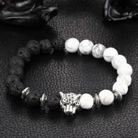ingrosso porcellana di pietra del braccialetto-braccialetti di perline set all'ingrosso uomo uomo stile charms india ragazzi gioielli leone leopardo buddha perline per uomo cina leone maschio buddha pietre