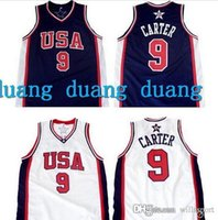 Wholesale Vince Carter Team USA Olympic Throwback Basketball Jerseys Retro Men s Customized Any size Embroidery Stitched Jersey