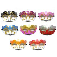 Wholesale Glitter Masquerade Masks - Party Mask With Gold Glitter Mask Venetian Unisex Sparkle Masquerade Venetian Mask Mardi Gras Costume Half Masks 0708072