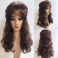Wholesale black women hair weave styles resale online - Women Fashion Charming Long Curly Wig Hair Weave Wigs Style Full Wigs For Black Women Y demand