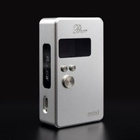 Wholesale Mini Lock Key Wholesale - Authentic Pluto Mini 35w Box Mod with OLED Display Lock key function 2 Colors 510 Thread E Cigarette Fit 18650 Battery DHL Free