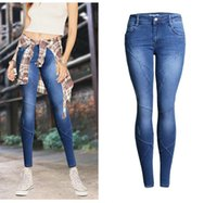 Womens Fashion Motorcycle Patchwork Jeans 2017 Spring Stretch Slim Fit Zerrissenen Loch Denim Hosen Skinny Jeans Frau Sexy Low Taille Jeans Femme