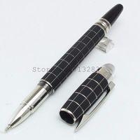 Wholesale pen ball top resale online - Luxury Mon pen Black barrel roller ball ballpoint pen diamond on top stationery gift brand pen for writing gift