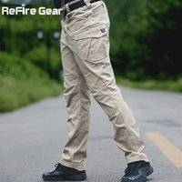 Wholesale Security Pants Trousers - Security Gear SWAT Combat Military Tactical Pants Men Large Pocket Army Cargo Pants Casual Cotton Bodyguard Militar Trousers 17416