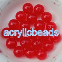 Wholesale Round Acrylic Beads For Bracelets - 100pcs Hot Sell 10MM Jelly Candy Round Acrylic Gumball Beads Loose Spacer Plastic Bubblegum Balls Chunky for Bracelet Jewelry DIY