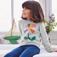 Wholesale Plaid T Shirt Hoodie - Baby Girls Sweatshirt Kids Long Sleeve Tops 100% Cotton 2017 Brand Winter Clothes Girls T shirts Hoodies Children Clothing 2-7T