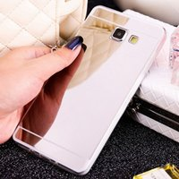 Wholesale s4 gold case - Gold Mirror Soft TPU Case Cover Shell Skin For Samsung Galaxy S3 S4 S5 S6 S7 J5 J7