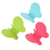 Wholesale Butterfly Dishes - Kitchen Dishes 1PCS Silicone Oven Heat Insulated Finger Glove Mitt Butterfly Cooking Microwave Non-slip Gripper Pot Holder