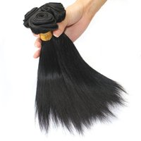 Wholesale Human Weave For Cheap - Straight Hair Weave Bundles 4 Pcs 50g pc Color 1B Black Cheap Peruvian Virgin Human Hair Weave Extensions for Short Bob Style