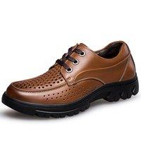 Wholesale Ventilated Men Casual Shoes - Size 37-50 Black Brown Mens Shoes Italy Ventilate Men'S Shoes Casual Shoes Fashion Leather Moccasins D30
