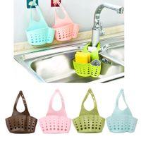 Wholesale kitchen sink baskets - Storage Baskets Portable Home Kitchen Hanging Drain Bag Basket Bath Storage Tools Sink Holder