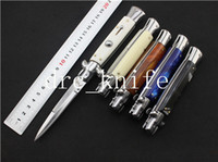 blade types - NEW TYPES AKC quot INCH Acrylic handle Italian Godfather Stiletto C steel blade survival outdoor knives single action knives hand tools