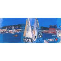 pintura a óleo velas venda por atacado-Deauville Secando as Velas por Raoul Dufy Pintura A Óleo moderna Paisagens art Mão de alta qualidade pintada