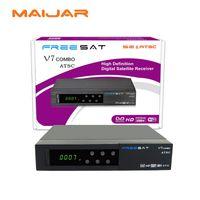 Wholesale Dvb Module - Digital Satellite Receiver Freesat V7 combo ATSC set Top Box Free To Air DVB-S2+T2 Combo Support North American ATSC module