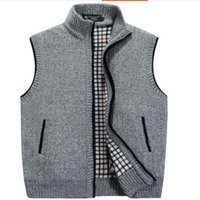 Wholesale Hooded Knit Batwing Cardigan - VXO MEN Cardigan Sweater Men Cardigan Vests Wool Vest Knitted Flocking Mens Cardigans Sleeveless